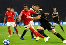 Бенфика – Аякс: прогноз на матч Лиги чемпионов 07.11.2018